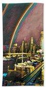 Docklands Double Rainbow Beach Towel