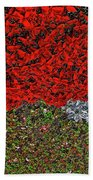 Flower Carpet. Beach Towel