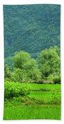 The Beautiful Karst Rural Scenery Beach Towel