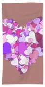 Love Heart Valentine Shape Beach Towel