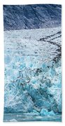 Sawyer Glacier At Tracy Arm Fjord In Alaska Panhandle Beach Towel