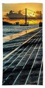25 De Abril Bridge In Lisbon. Beach Towel