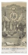 25-year Reign Of William IIi King Of The Netherlands, In 1874, Anonymous, After Hendrik Jan Van Lumm Beach Towel