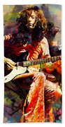 Jimmy Page. Led Zeppelin. Beach Towel