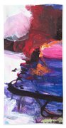 Abstract Landscape Painting Beach Towel