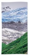 Glacier And Mountains Landscapes In Wild And Beautiful Alaska Beach Towel