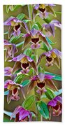 Helleborine On North Country Trail In Pictured Rocks National Lakeshore-michigan  Beach Towel