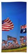 Pepperdine Flag Salute Beach Towel