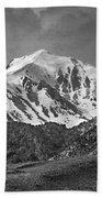 2d07508-bw High Peak In Lost River Range Beach Towel