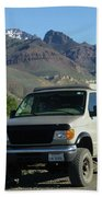 2da5944-dc Our Sportsmobile At Steens Mountain Beach Towel
