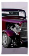 1932 Ford 'three Window' Coupe   Beach Towel