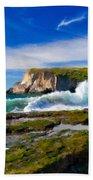 A Landscape Drawing Beach Towel