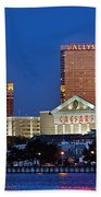 Atlantic City Skyline Beach Towel