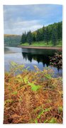 Autumn Derwent Reservoir Derbyshire Peak District Beach Towel