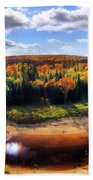 Autumn In Arrowhead Provincial Park Beach Towel