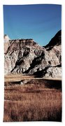 Badlands At Sunset Beach Towel
