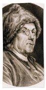 Benjamin Franklin, American Polymath Beach Towel by Science Source