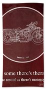 Bmw R32 1923 - For Some There's Therapy, For The Rest Of Us There's Motorcycles Beach Towel