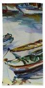 3 Boats I Beach Towel
