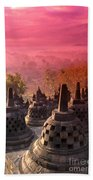 Borobudor Temple Beach Towel