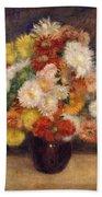 Bouquet Of Chrysanthemums Beach Towel