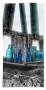 Bromo Seltzer Vintage Glass Bottles Beach Towel