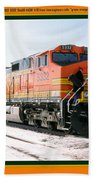 Burlington Northern Santa Fe Bnsf - Railimages@aol.com Beach Towel