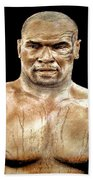 Champion Boxer And Actor Mike Tyson Beach Towel