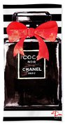 Chanel Noir Perfume Beach Towel