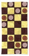 Checkerboard Generated Seamless Texture Beach Towel