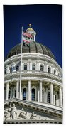 City Views Around California State Capitol Building In Sacrament Beach Towel