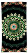 Colorful Kaleidoscope Incorporating Aspects Of Asian Architectur Beach Towel
