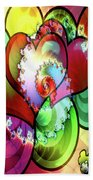 Colors Of Love Beach Towel