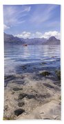 Cuillin Mountains From Elgol Beach Towel