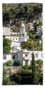 Dhermi Traditional Village View In Southern Albania Beach Towel