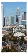 Downtown Charlotte North Carolina From The South End Beach Towel