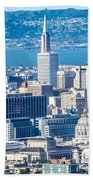 Downtown San Francisco City Street Scenes And Surroundings Beach Towel