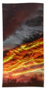 Dramatic Skies Great Smoky Mountains Nc At Sunset In Winter Beach Towel