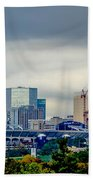 Dramatic Sky And Clouds Over Charlotte North Carolina Beach Towel