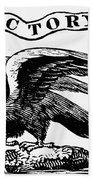 Eagle, 19th Century Beach Towel