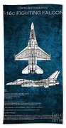 F16 Fighting Falcon Beach Towel