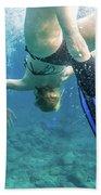Female Snorkeling Beach Towel