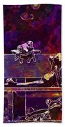 Frogs Yoga Bank Bench Relaxed  Beach Towel