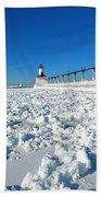 Frozen Lighthouse Beach Sheet