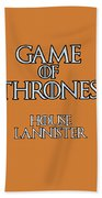 Game Of Thrones. Lannister. Beach Towel