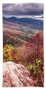 Graveyard Fields Overlook In The Smoky Mountains In North Caroli Beach Towel