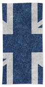 Great Britain Denim Flag Beach Towel