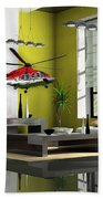 Helicopter Art Beach Towel