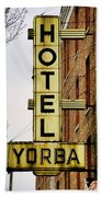 Hotel Yorba Beach Towel by Gordon Dean II