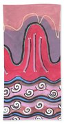 Ilwolobongdo Abstract Landscape Painting Beach Towel